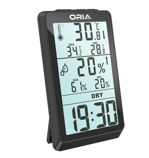 เครื่องวัดอุณหภูมิและความชื้นแบบดิจิตอล-ORIA1