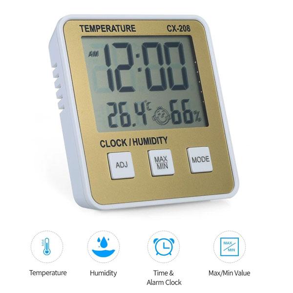 เครื่องวัดอุณหภูมิและความชื้นแบบดิจิตอล-E4860G