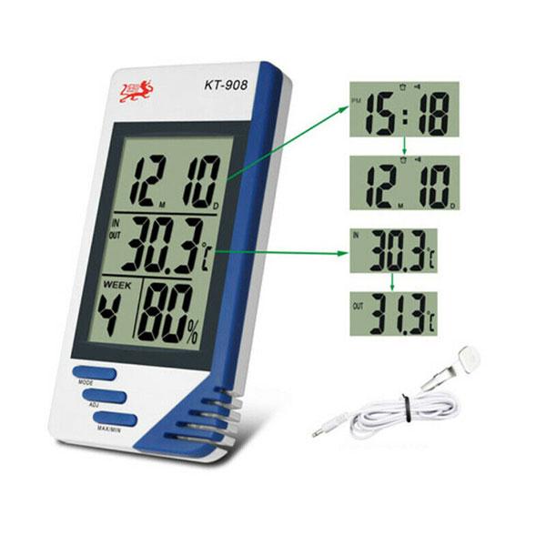 ครื่องวัดอุณหภูมิและความชื้นแบบดิจิตอล-KT-908